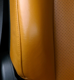 Leather Car Seat Bolster After